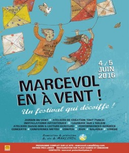affiche association protection du site de Marcevol