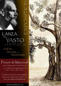 Exposition sur Lanza del Vasto - Prieuré de Marcevol